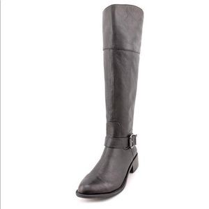 VINCE CAMUTO LEISHA black leather boots moto boots